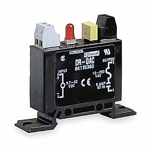Input/Output Relay Module with 3.7 to 32VDC Input Voltage, Black
