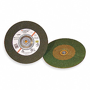 "4-1/2"" x 1/4"" Depressed Center Wheel, Ceramic, 5/8""-11 Arbor Size, Type 27, 3M  Green Corps"