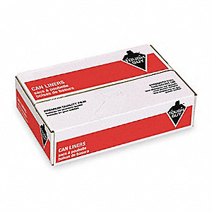 33 gal. White Trash Can Liner, Flat Pack, 150 PK