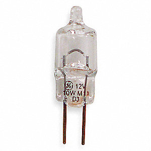 Mini Halogen Bulb,Q10T3/CL,10W,T3,12V