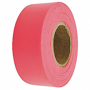 Flagging Tape,Fluorescent Red,150 ft