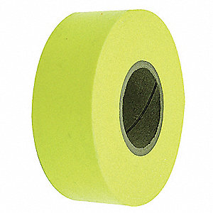 Flagging Tape,Yellow,300 ft x 1-3/16 In