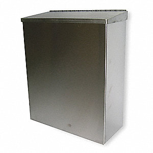"304 Stainless Steel Sanitary Napkin Receptacle, 11"" Height, 1 EA"