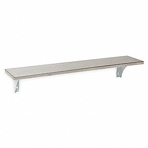 Utility Shelf,Satin,4-1/2x24x5In