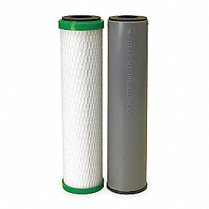 Carbon Filter Cartridge, 0.5 Microns, Carbon Block Filter Media, 0.6 gpm Flow Rate