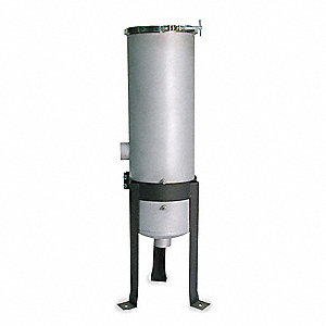 "2"" (F)NPT 316 Stainless Steel Bag Filter Housing, Bottom Outlet, 110 gpm"