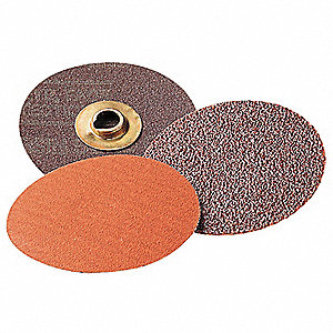 "2"" Quick Change Disc, Aluminum Oxide, TSM, 80 Grit, Medium, Coated, 361F, PK50"
