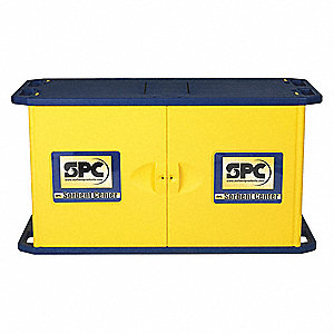 Empty Spill Cabinet,Yellow,2 Door
