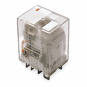 Plug In Relay, 8 Pins, Square Base Type, 15A @ 277VAC/28VDC Contact Rating, 24VAC Coil Volts