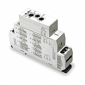 7-Function Timer Relay, 12 to 240VAC/DC, 15A Contact Amp Rating (Resistive)
