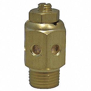 Speed Control Muffler,1/8 NPT,1/2 Hex