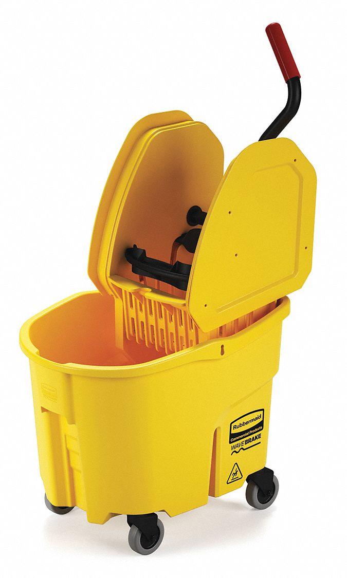 Rubbermaid Yellow Polypropylene Mop Bucket And Wringer 8