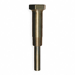 Industrial Thermowell,Lagging,Brass,