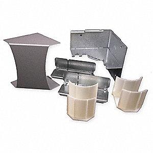 LEGRAND Internal Elbow,Gray,Steel,Elbows, DS4017-DG, Gray