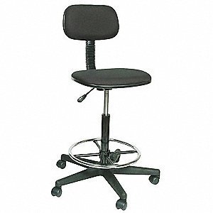 Drafting Stool,24-34-1/4 In H,Black