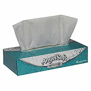 Facial Tissue,Angel Soft ps,Flat,PK30