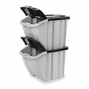 Storage Tote,17 In. H,24-3/8 In. L,PK2