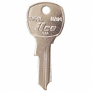 Key Blank,Brass,Type NA14,4 Pin,PK10