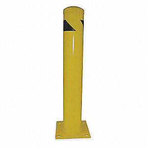 Safety Bollard,Length 36 In,Yellow
