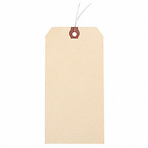 Grainger Approved Wire Tag Natrl Kraft Paper Blank Pk1000