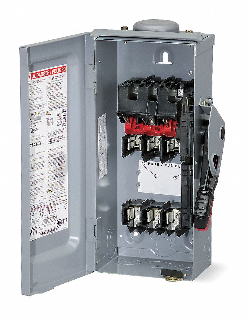 Square D Safety Switch 600vac 3pst 30 Amps Ac 1h349