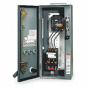 NEMA Fusible Combination Starter, 600VAC Max. Motor Voltage, 18 Amps AC, 120VAC Coil Volts