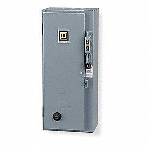 120VAC No NEMA Circuit Breaker Combination Starter, NEMA Enclosure Type 1, 27 Amps AC