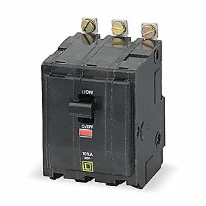 Bolt On Circuit Breaker, 50 Amps, Number of Poles:  3, 240VAC AC Voltage Rating