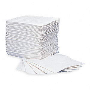 Absorbent Pads,15 In. W,White,PK200