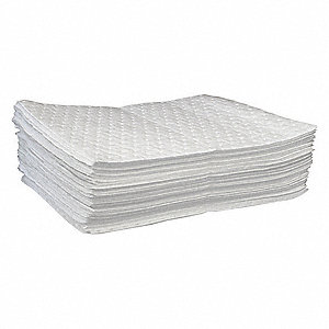 Absorbent Pads,16 gal.,19 In. L,PK100