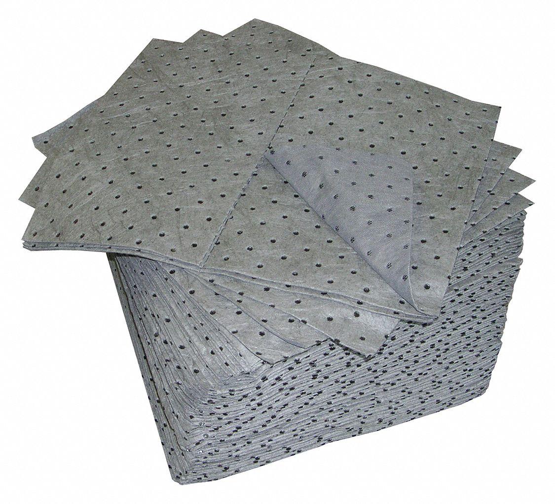 Oil Dri Absorbent Pad Universal Gray Pk100 1hej2