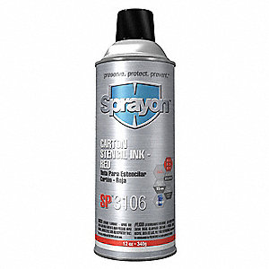 Stencil Ink,16 oz,Net 12 Oz,Red