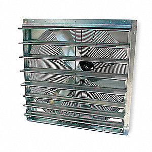 "36"" Shutter Mount Exhaust Fan, Voltage 115V, Motor HP 1/2, 1-Speed Number of Speeds"
