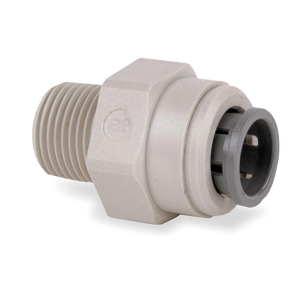 John Guest PI011221S-PK10 Plastic Adapter, Acetal Copolymer Body Material, Tube x MNPT Connection Type PI011221S-PK10