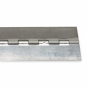 "Piano Hinge Without Holes, 316 Stainless Steel, 1-1/2"" Width, 3 ft. Length"