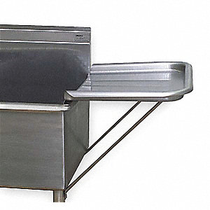 Stainless Steel Detachable Drainboard For Use With Utility Sinks