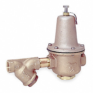 "Water Pressure Reducing Valve, Super Capacity Valve Type, Bronze, 1-1/2"" Pipe Size"