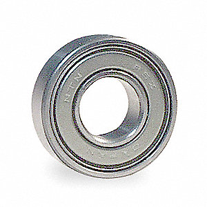 "Radial Ball Bearing, Shielded Bearing Type, 1.2500"" Bore Dia., 2.2500"" Outside Dia."