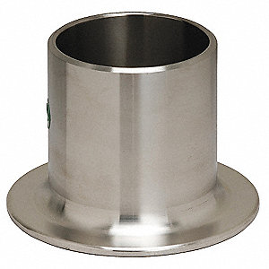 "Stub End Type A, 316L Stainless Steel, 1"" Pipe Size"