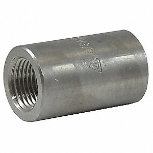 Coupling,1/4 In,304 Stainless Steel