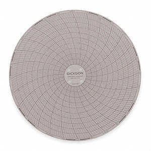 Circular Chart,6 In,0 to 100F,7 Day,PK60