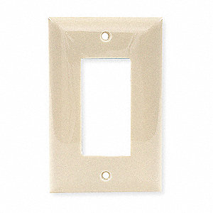 Rocker Wall Plate, Ivory, Number of Gangs: 1, Weather Resistant: No
