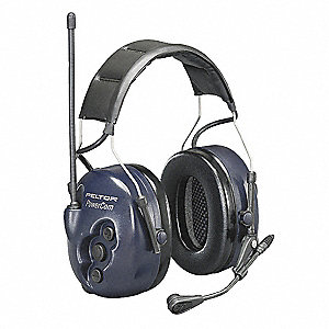Electronic Ear Muff,25dB,Over-the-H,Bl