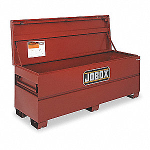 "Brown Jobsite Chest, Width: 72"", Depth: 24"", Height: 27-3/4"", Storage Capacity: 23.2 cu. ft."