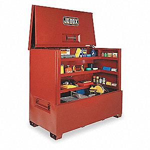 "Red Jobsite Piano Box, Width: 74-1/2"", Depth: 35-1/2"", Height: 60-1/4, Storage Capacity: 85.7 cu. ft"