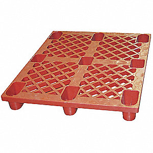 Plastic Skid,48 L X 40 In W,Red