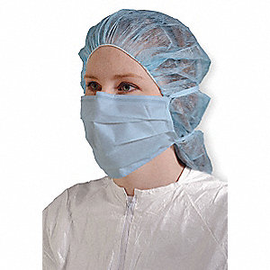 Cleanroom Mask,Universal,Blue,PK500