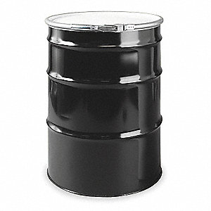 Transport Drum,Open Head,55 gal.,Black