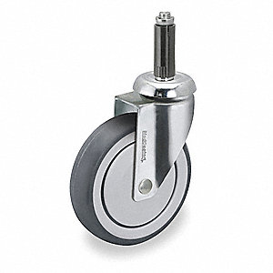 Swivel Stem Caster,TPR,3 in.,190 lb.
