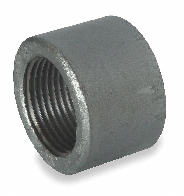 Grainger approved galvanized forged steel cap quot pipe